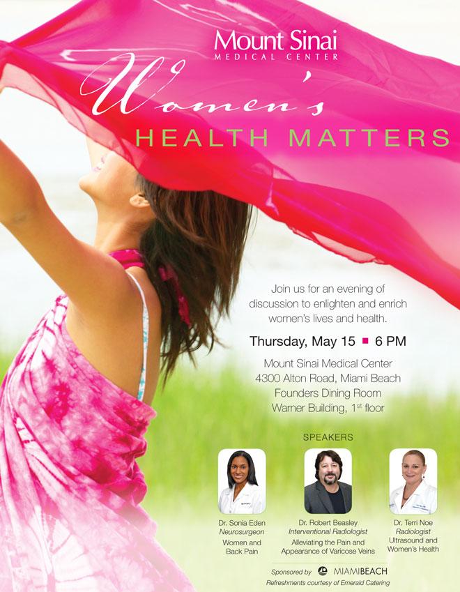 Women's Health Matters Poster